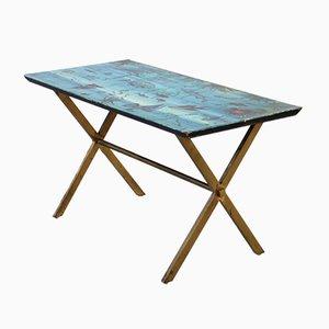 Table Peinte par Atelier Fornasetti, Italie, 1950s