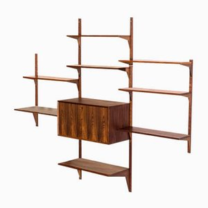 Vintage Danish Rosewood Wall Unit by Poul Cadovius for Cado, 1950s