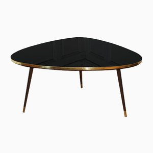 Mid-Century Black Tripod Coffee Table