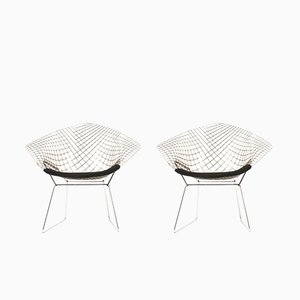 Diamond Armchairs by Harry Bertoia for Knoll International, 1950s, Set of 2