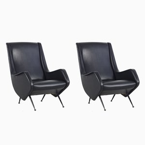 Armchairs by Aldo Morbelli for ISA Bergamo, 1950s, Set of 2