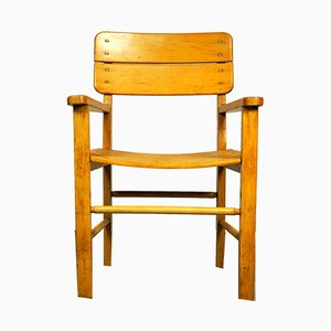 Bauhaus Wooden High Chair from Herlag, 1950s