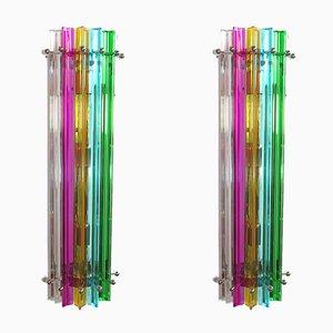 Applique da parete in vetro di Murano multicolore, 1984, set di 2
