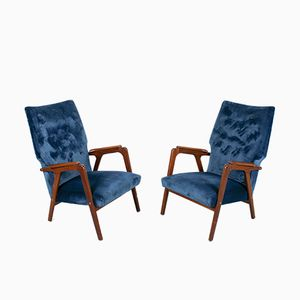 Vintage Danish Wingback Lounge Chairs, Set of 2