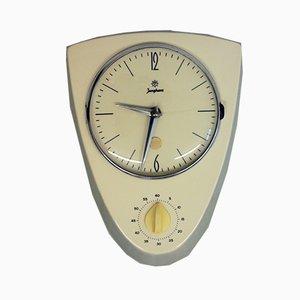 Horloge Murale en Céramique avec Minuteur Oeuf de Junghans, 1950s