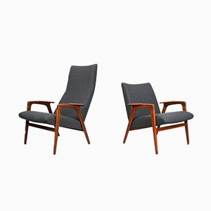 Mid-Century Lounge Chairs by Yngve Ekström for Pastoe, 1960s, Set of 2
