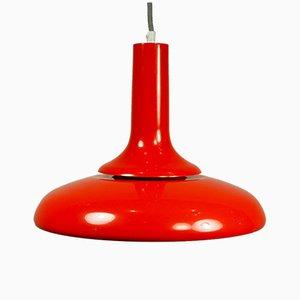 Italienische Vintage Pop Art Deckenlampe in Rot