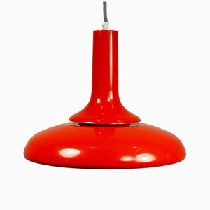 Vintage Italian Red Pop Art Ceiling Lamp