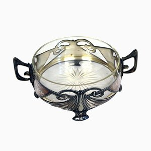 Antique Silver Plated Art Nouveau Bowl