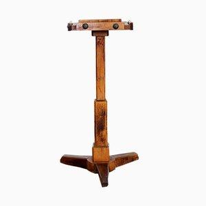Pedestal de madera maciza, años 30