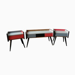 Rockabilly Cabinets from Swarzędz Furniture Factory, 1960s, Set of 3