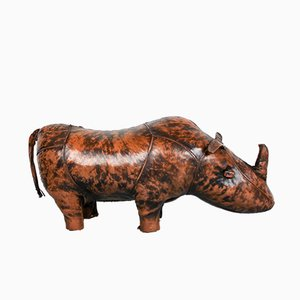 Vintage Rhino Leather Footrest by Dimitri Omersa, 1960s
