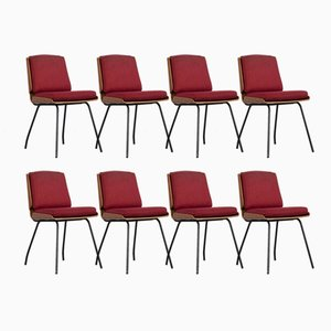 Lucania Chairs by Giancarlo de Carlo for Arflex, 1950s, Set of 8