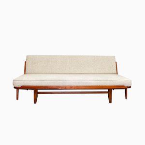 Sofá cama vintage de teca de Arne Wahl Iversen para Komfort