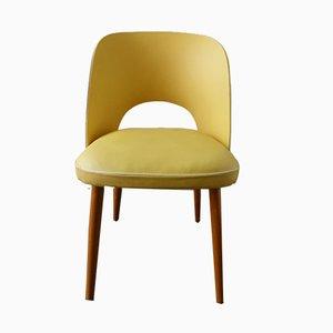 Stuhl aus Holz & Vinyl, 1960er
