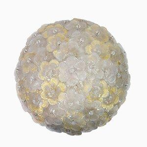 Lámpara de techo de cristal de Murano de Barovier & Toso, años 60
