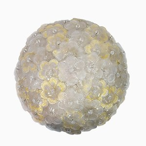 Murano Glass Ceiling Lamp from Barovier & Toso, 1960s