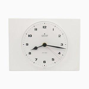 Horloge Murale Blanche de Junghans, 1970s