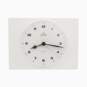White Wall Clock from Junghans, 1970s