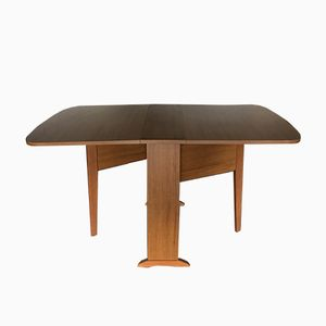Mid-Century Extendable Drop-Leaf Dining Table