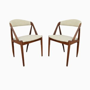 Model 31 Teak Side Chair by Kai Kristiansen for Schou Andersen, 1960s, Set of 2