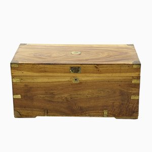 19th Century English Camphor Wood Campaign Chest