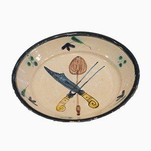 Ceramic Riedenburg Cutlery Plate, 1840s