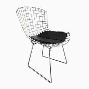 Vintage Chrome Side Chair by Harry Bertoia for Knoll International, 1950s