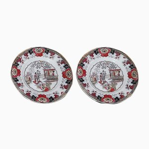 Antique Ceramic Plates from Boch Frères, Set of 2