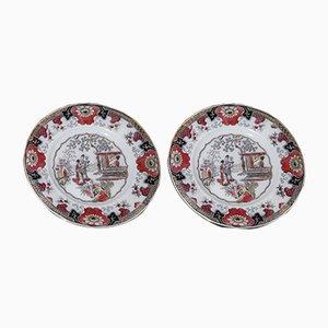 Piatti antichi in ceramica di Boch Frères, set di 2