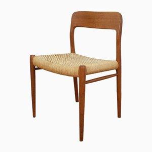 Dänischer Modell 75 Chair aus Teak von Niels Otto Møller für J.L. Møllers, 1950er