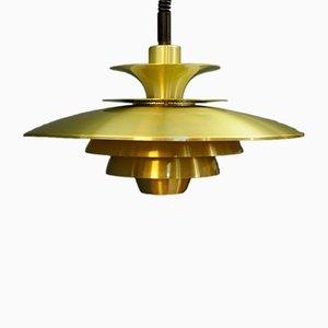Lampe à Suspension Vintage Or de Jeka, Danemark