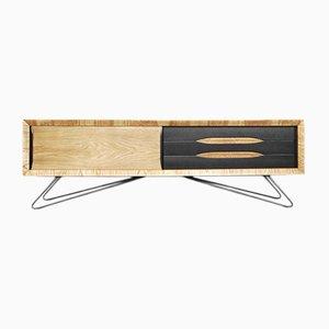 Niedriges Sideboard aus Esche, 1960er