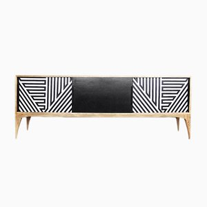 Mid-Century Modern Black and White Sideboard, 1960s