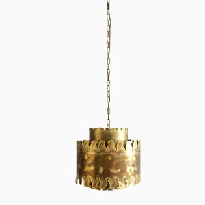 Mid-Century Brass Pendant Lamp by Svend Aage Holm Sørensen