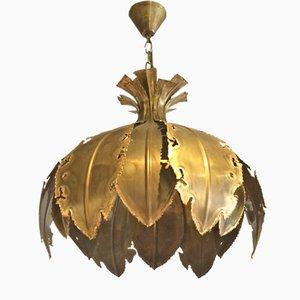 Mid-Century Brass Pendant Light by Svend Aage Holm Sørensen