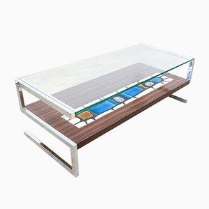 Table Basse en Forme de S en Carreaux de Céramique de De Nisco, 1960s