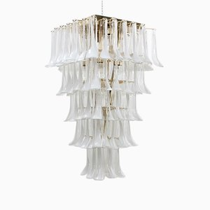 Großer Kronleuchter mit 100 Blättern aus Muranoglas von La Murrina, 1980er