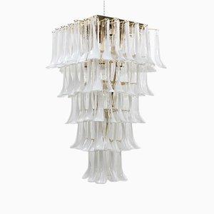 Lampadario grande con 100 petali in vetro di Murano di La Murrina, anni '80