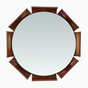Octagon Rosewood Illuminated Mirror, 1960s