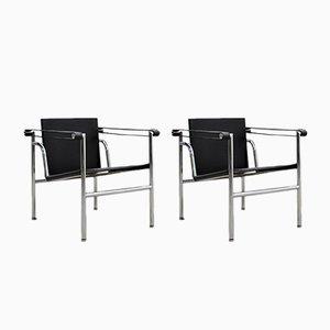 Vintage LC1 Chairs von Le Corbousier für Cassina, 1980er, 2er Set
