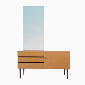 Ash Dressing Table with Mirror, 1960s