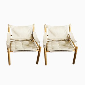 Vintage Sirocco Lounge Chairs by Arne Norell, Set of 2