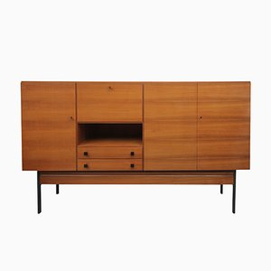 Highboard aus Nussholz mit Bar, 1960er