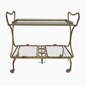 Mid-Century Brass Bar Cart, 1950s