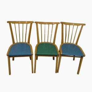 Küchenstühle aus Holz, 1950er, 3er Set