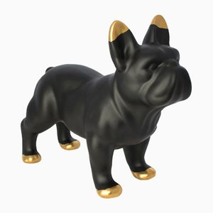 Matt Black Ceramic Bulldog by Young & Battaglia for Mineheart, 2018