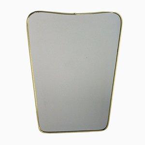 Vintage Spiegel aus Messing von Lachmayr, 1950er