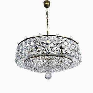 Lámpara de araña vienesa vintage con cristal de Swarovski