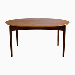 Danish Teak & Oak Dining Table by Svend Madsen for NBM, 1960s